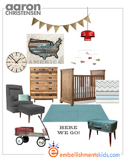 travel nursery usa map reclaimed wood mood board