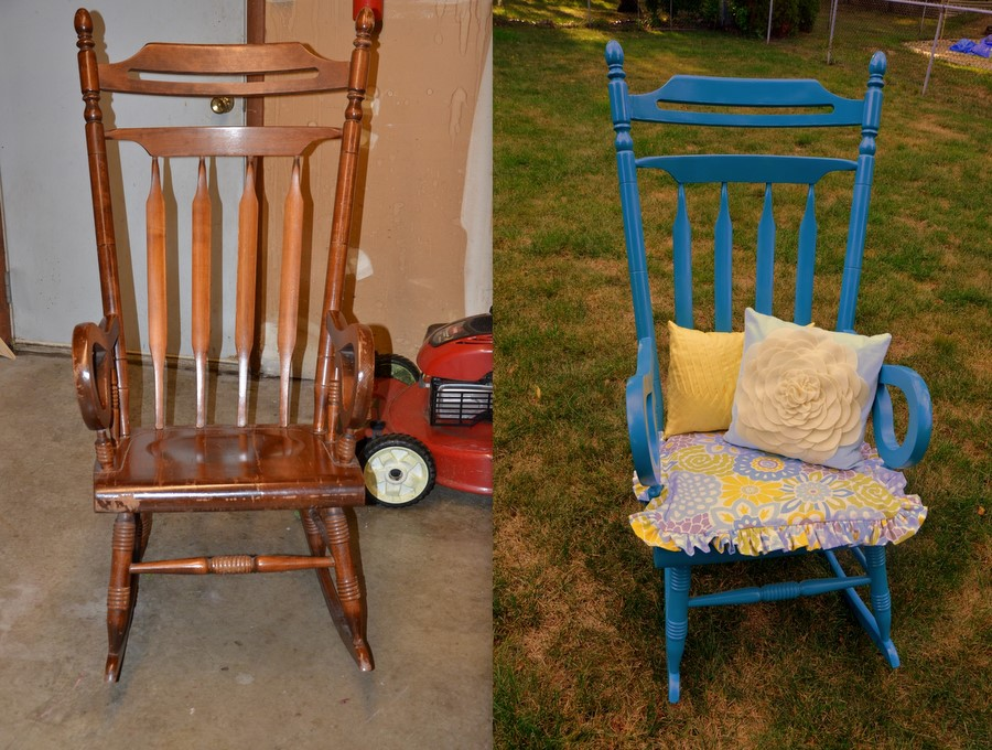 Normal activities rocking chair redo complete for Redo furniture