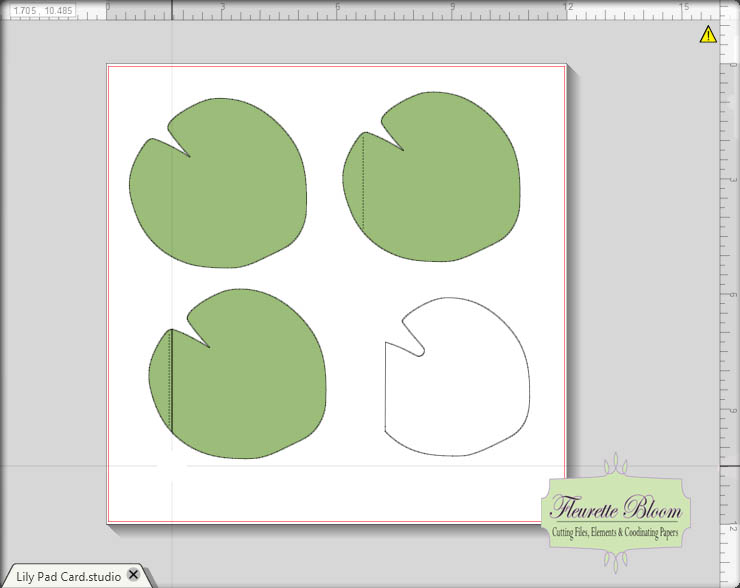 I Love Doing All Things Crafty Lily Pad Shape Card