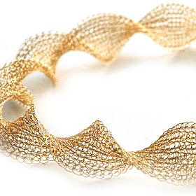 Infinity wire crochet gold necklace - as source of inspirtaion