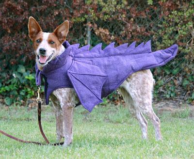 sparkly purple dragon costume