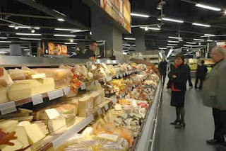 French cheese counter