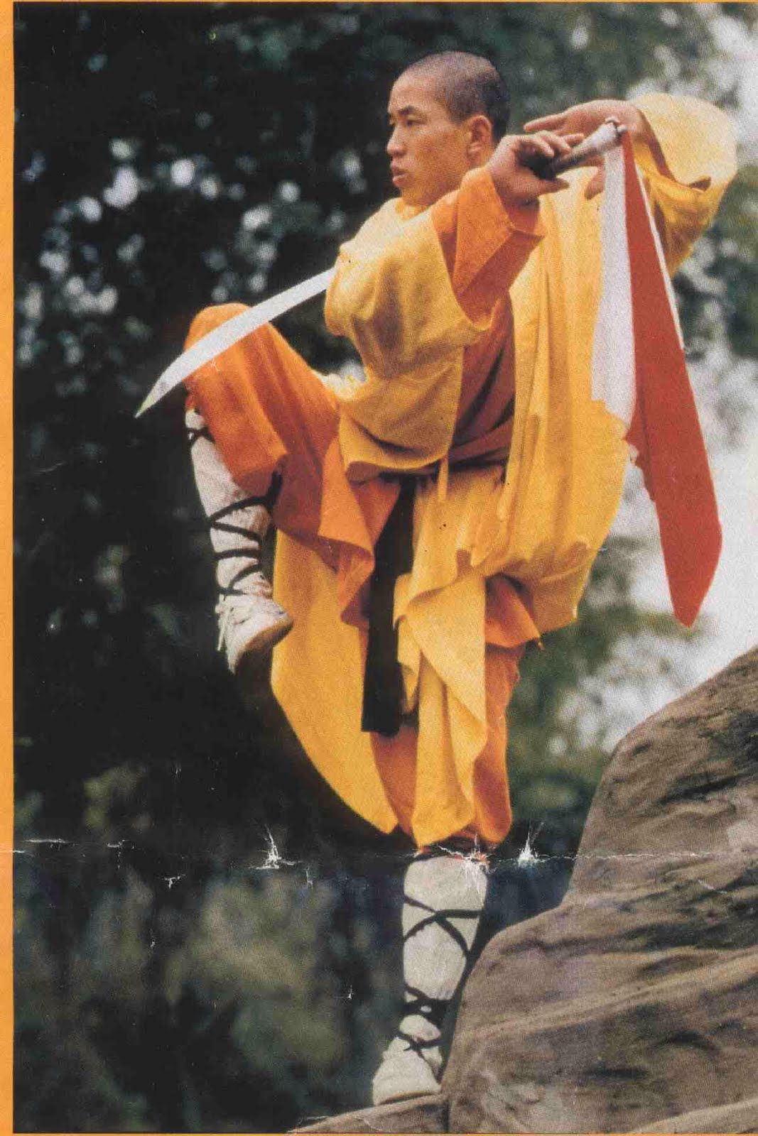 shaolin monk Fighting monks mastered the staff, then explored other avenues for martial skill and enlightenment.