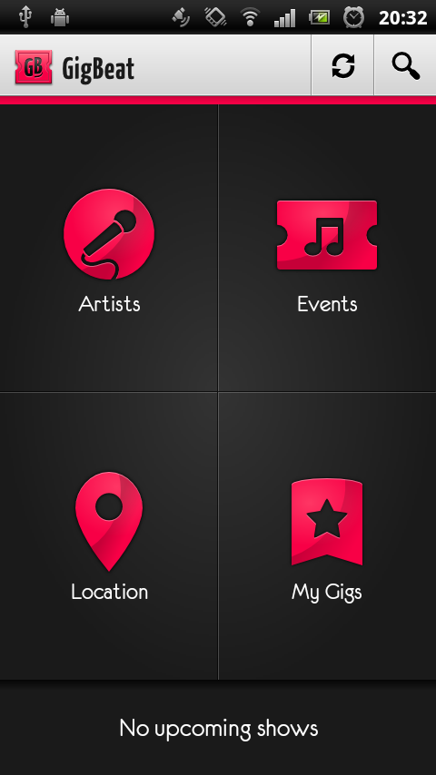 GigBeat - an example of great Android design - DZone Mobile