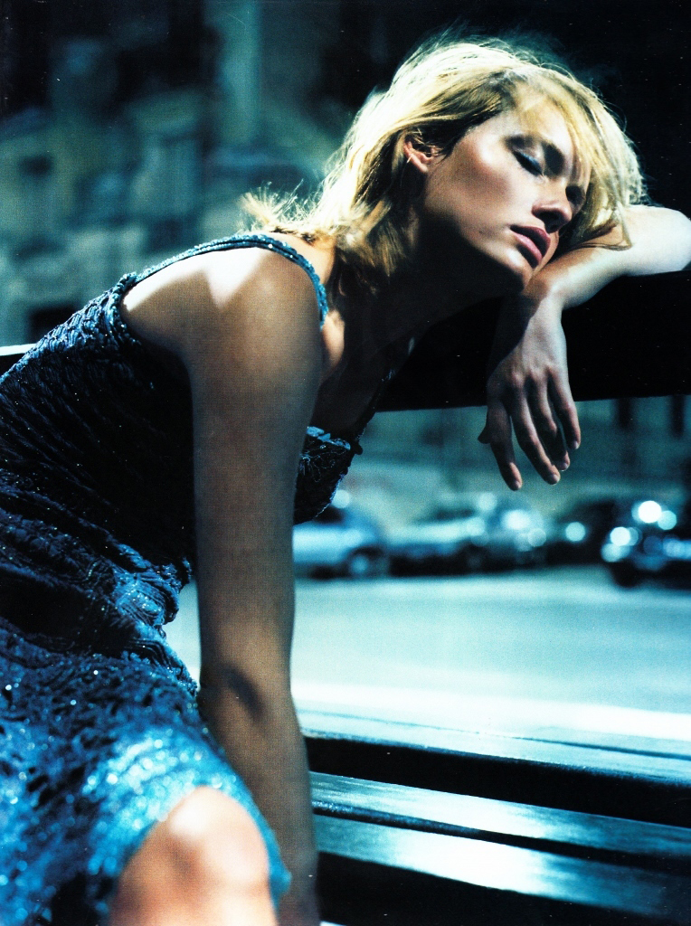 Amber Valletta in Night Life / Vogue UK May 1999 (photography: Nathaniel Goldberg, styling: Tina Laakkonen) via fashionedbylove.co.uk / british fashion blog