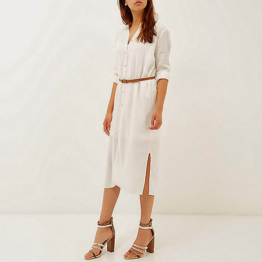 white shirt dress river island