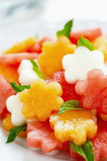 Watermelon Basil Salad with Kefalotyri Cheese Recipe   Healthy Salad Recipe