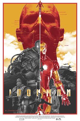 Iron Man Regular Edition Screen Print by Grzegorz Domaradzki