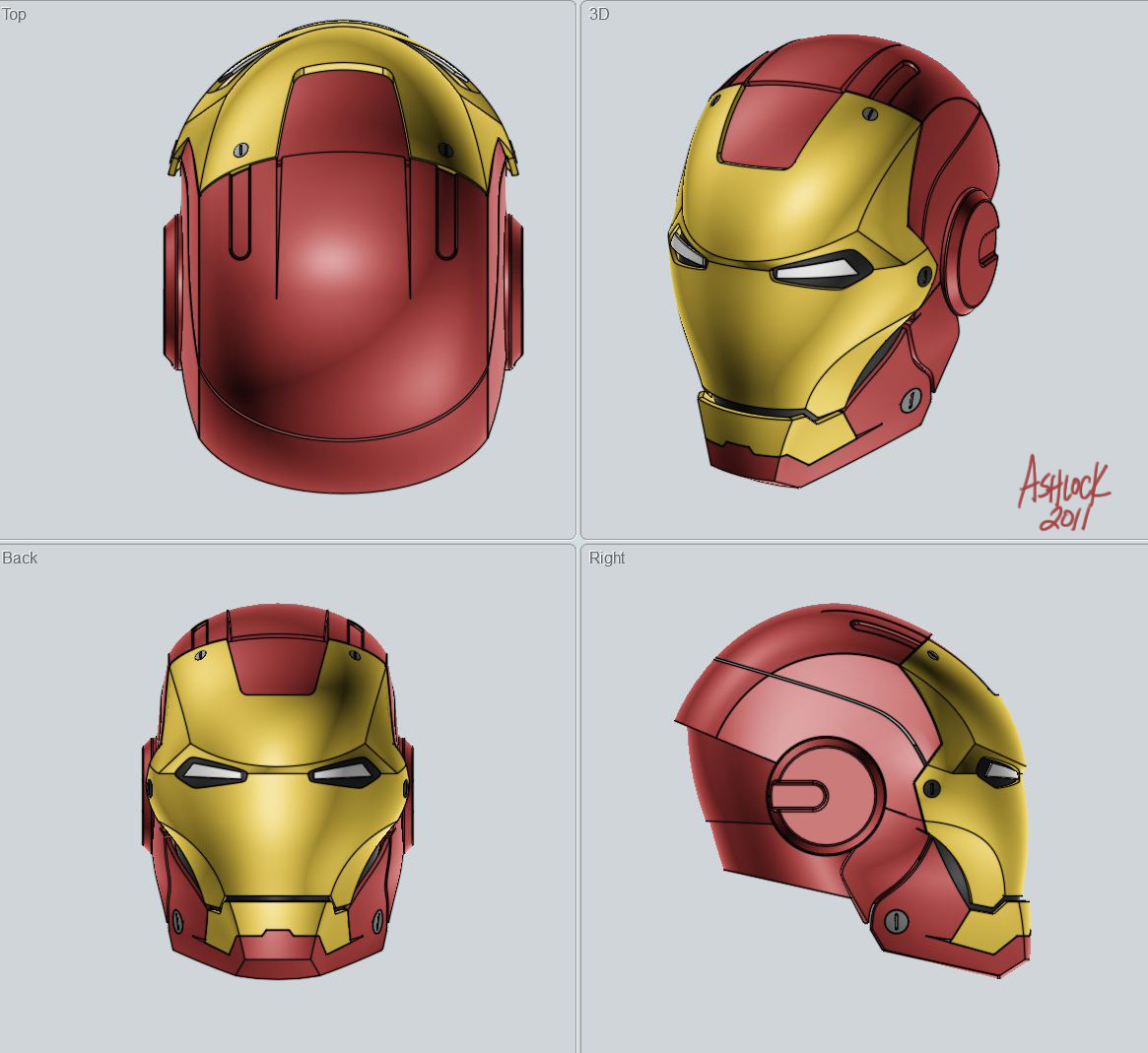 Ironman Helmet Drawing Iron Man Mark Iii Helmet
