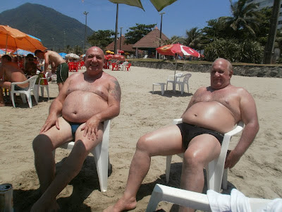 nudebeach - naked dads - gay chubby men
