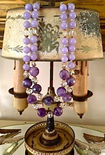 2 strand amethyst necklace by The Pickled Hutch