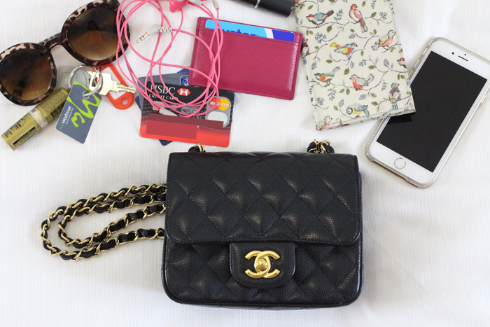 9d9486146542 Chanel mini review and what s in my bag - Chase Amie