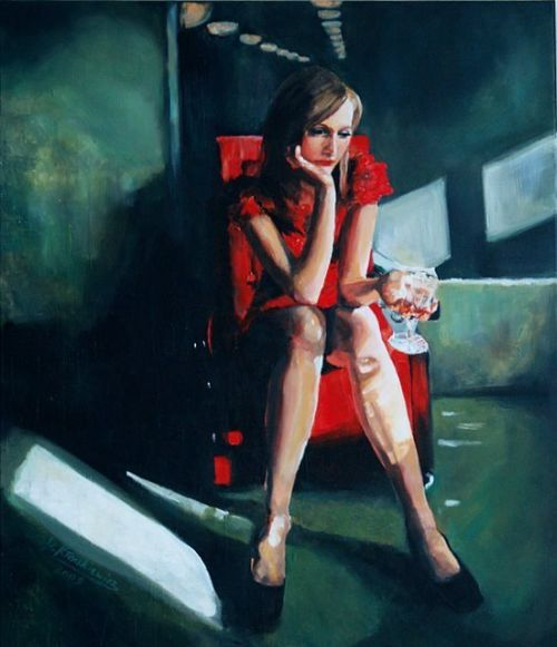 Damian Klaczkiewicz pinturas mulheres