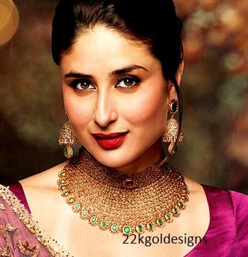 kareena kapoor in malabar uncut diamond necklace and