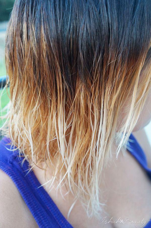 Diy ombre bleach dark brown hair to blonde without too much damage