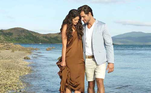 pareja perfecta playa