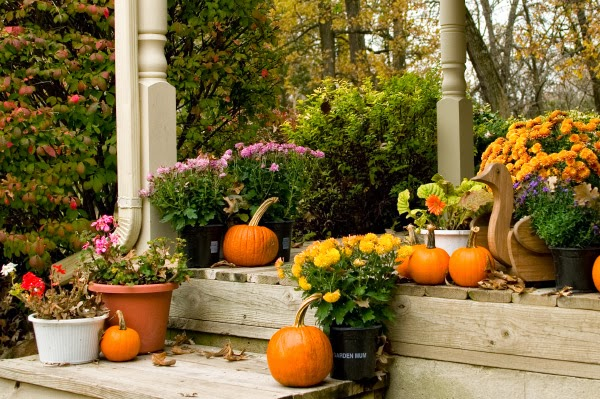 Life and love fall front porch decoration ideas Beautiful fall front porches