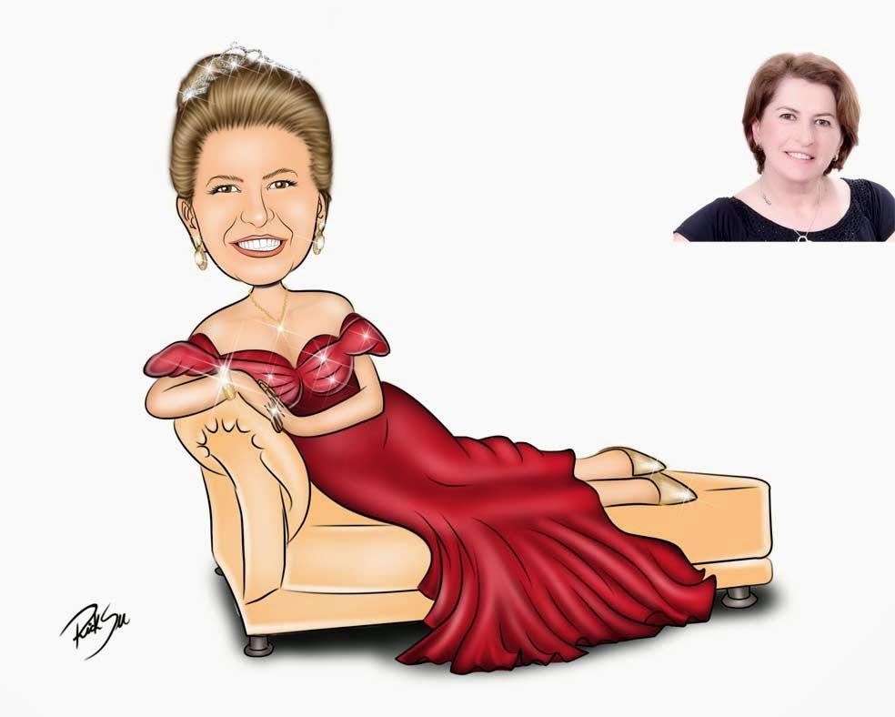 caricatura no divã