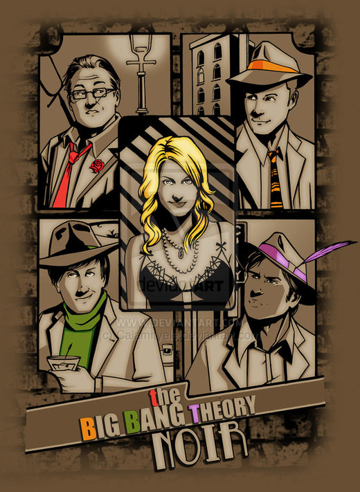 The big bang teory Noir por Calamityele
