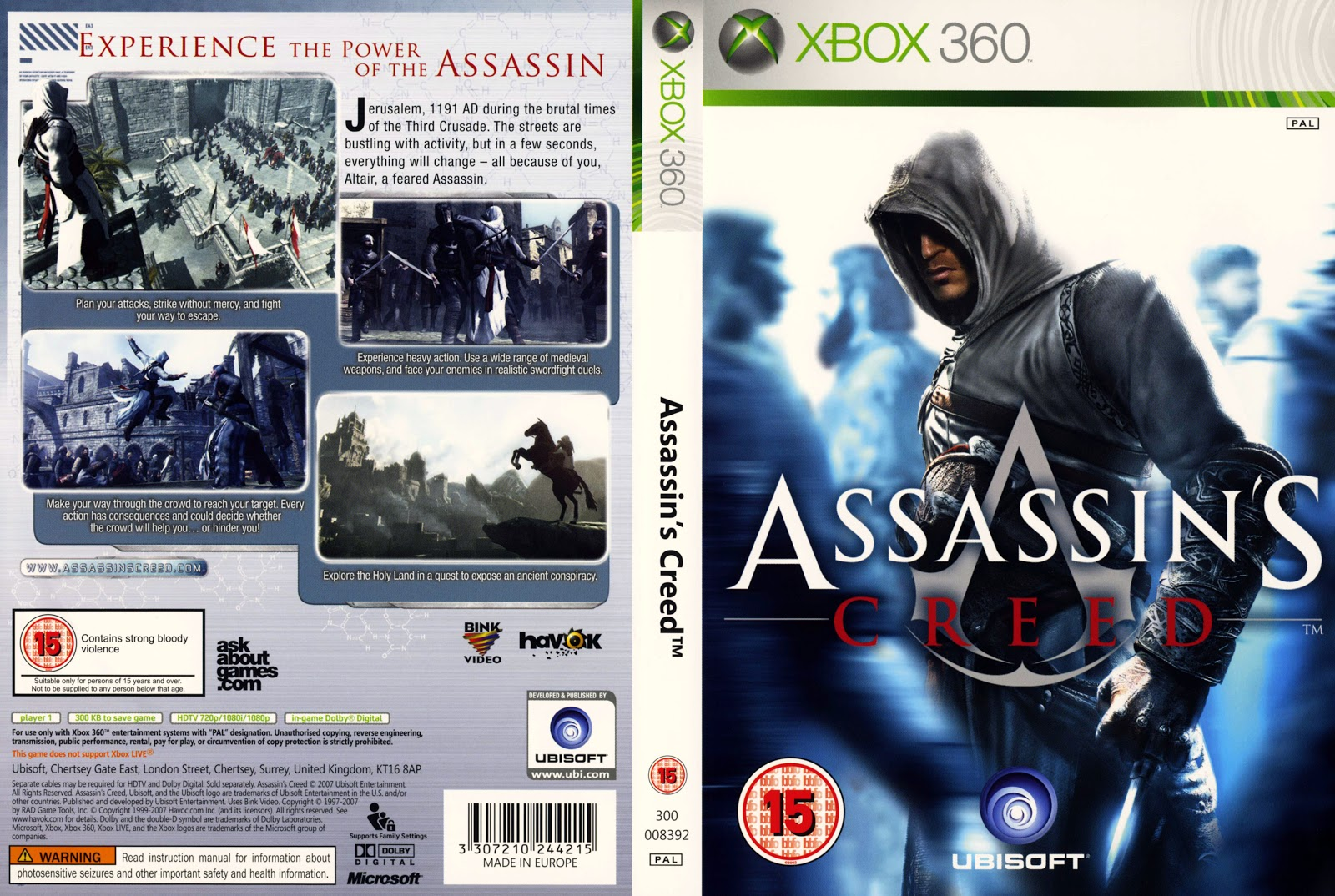 capas covers xbox 360 assassins creed capa cover scan