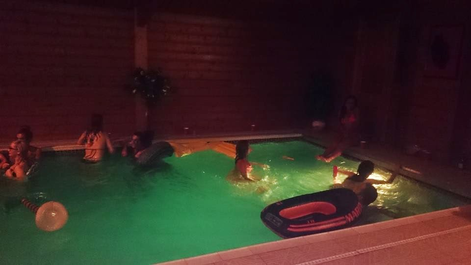 indoor pool party in london