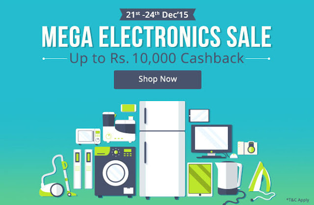 Paytm Electronics Mega Sale! Up to Rs.10,000 Cashback - Complete List Of Offers
