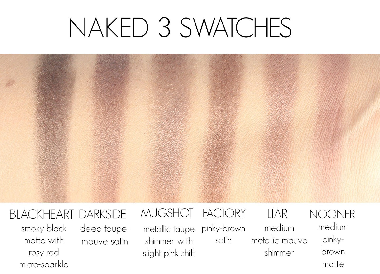 Urban Decay Naked 3 Palette Review Swatches