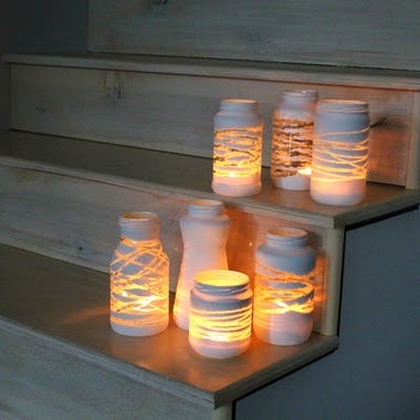 30 Awesome DIY Projects that You've Never Heard of - Yarn-Wrapped Painted Jars