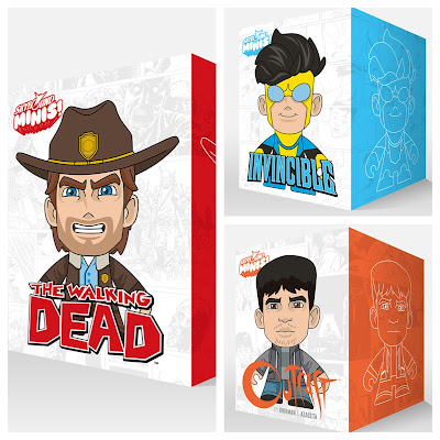 "San Diego Comic-Con 2015 Exclusive Skybound Minis 8"" Vinyl Figures by Scott Tolleson - The Walking Dead, Invincible & Outcast Kirkman and Azaceta.JPG"