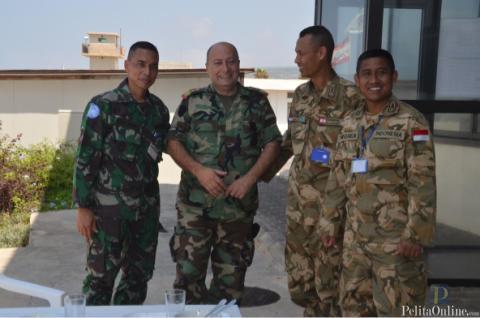 Prajurit TNI Berkumpul Bersama di Naqoura-Lebanon