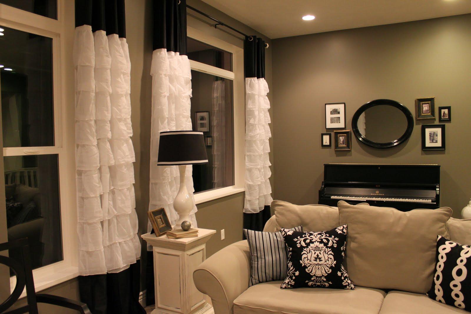 Black ruffle curtains - Treasure Hunt Curtains