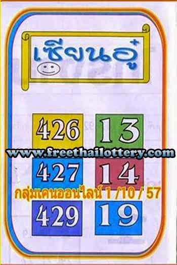 THAI LOTTERY LOTTO DIRECT SET 01-10-2014