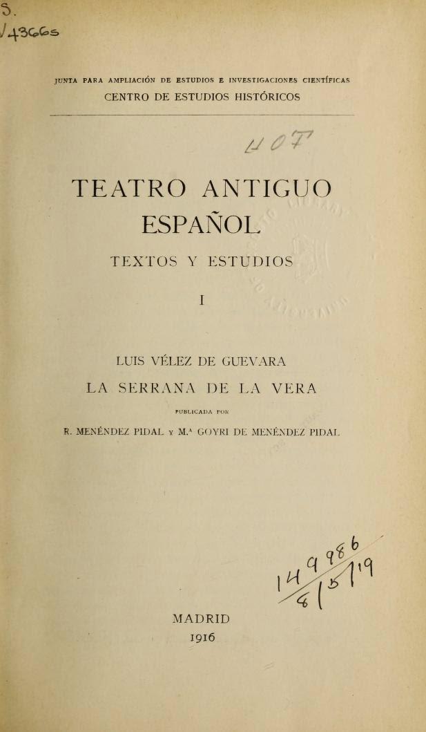 Teatro Antiguo Español I