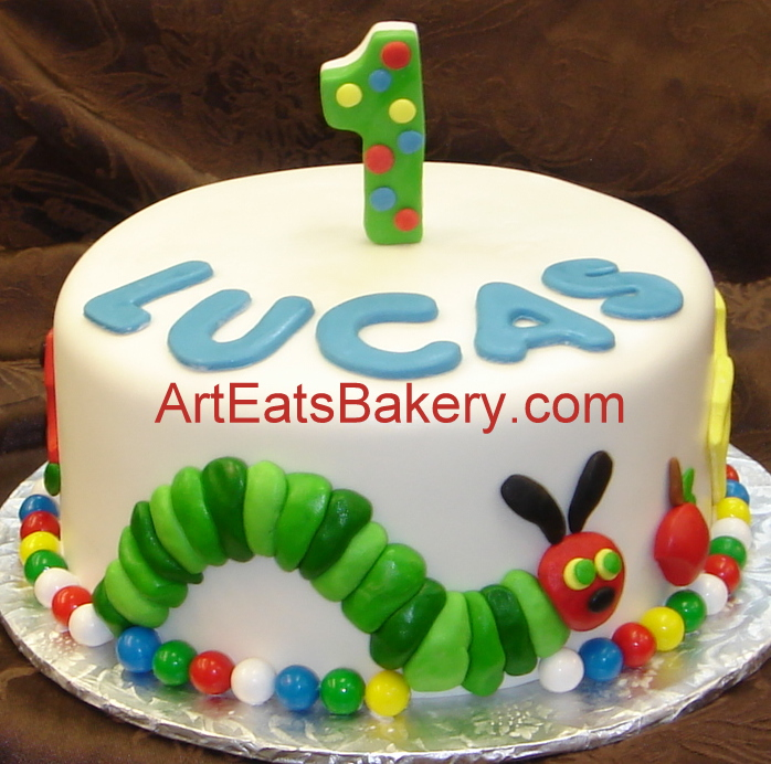Birthday Cake Designs For Boy With Name : Art Eats Bakery custom fondant wedding and birthday cake ...