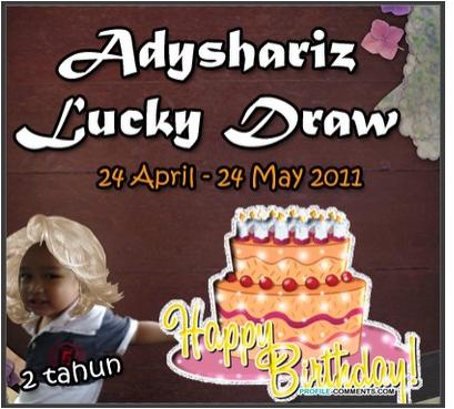 Adyshariz Lucky draw