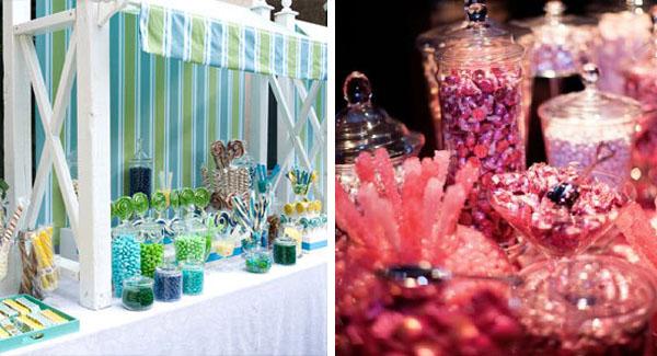 candy buffet per intrattenere gli ospiti a un matrimonio