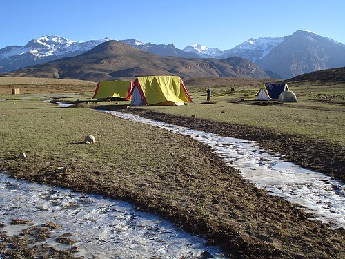 Camping in Spiti Valley, Himachal Pradesh