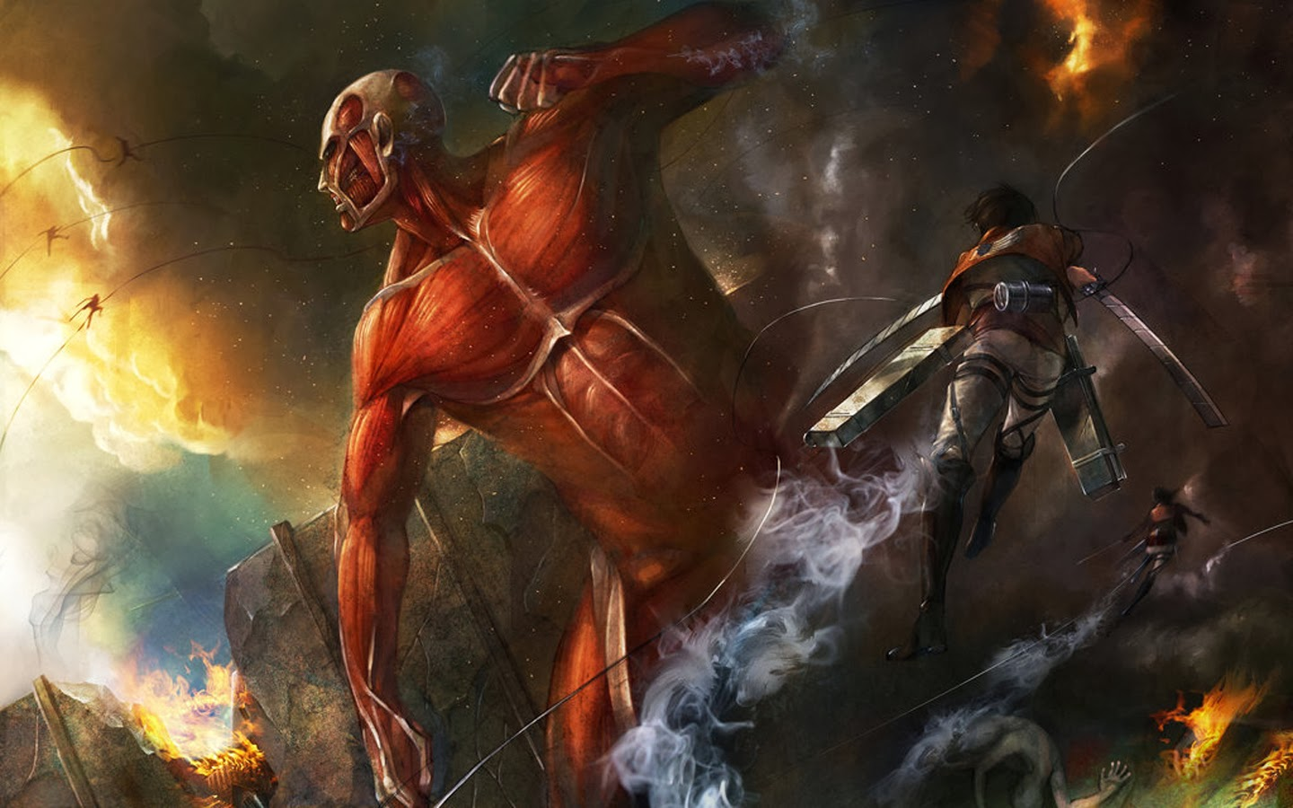 Colossal Titan Eren Jaeger 2u Wallpaper HD