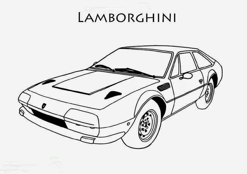 coloriage voiture lamborghini imprimer coloriage voiture