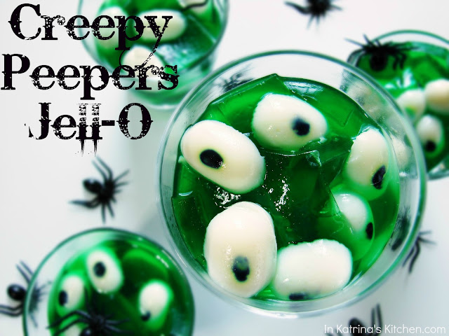 Creepy Peepers Halloween Jell-O @katrinaskitchen
