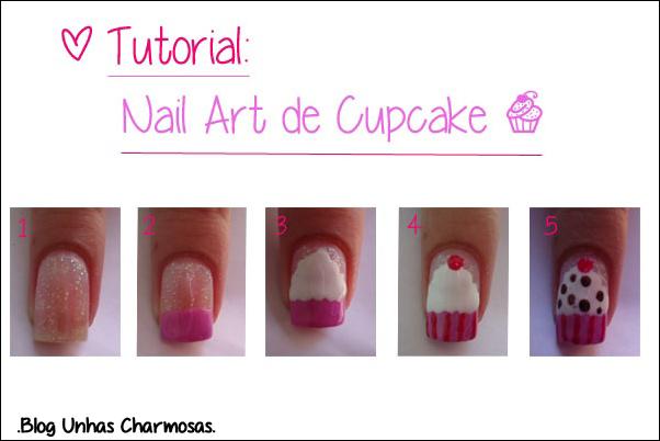 nail art, nail art cupcake, nail art de cupcake, unhas de cupcake, aniversário do blog, 2 anos de blog, unhas de caviar, esmalte frio na barriga, tutorial unhas de cupcake