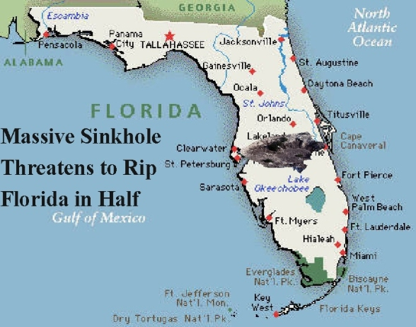 Sinkhole Florida Map.Central Florida State Parks Map Tenmien Store