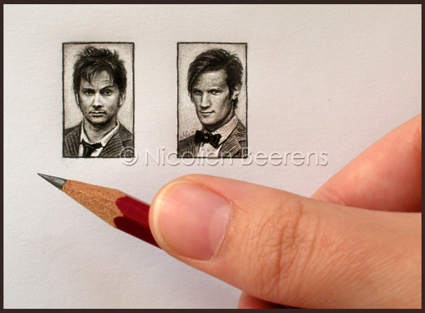 01-Doctor-Who-Nicolien-Beerens-Cataclysm-X-Miniature-Celebrity-Portraits-Drawing-www-designstack-co