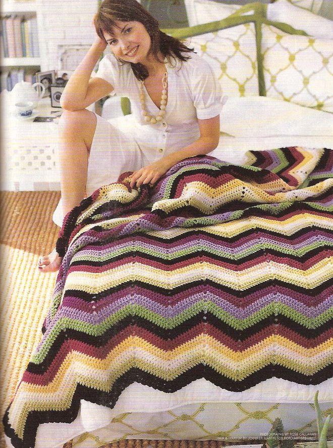 Tejidos crochet colchas zig crochet - Colchas de ganchillo modernas ...