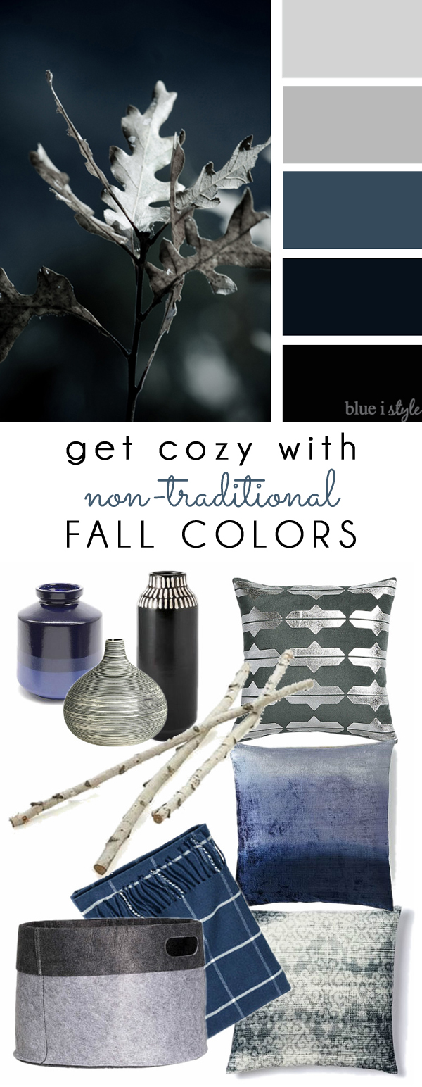 Navy and Gray Fall Color Mood Board