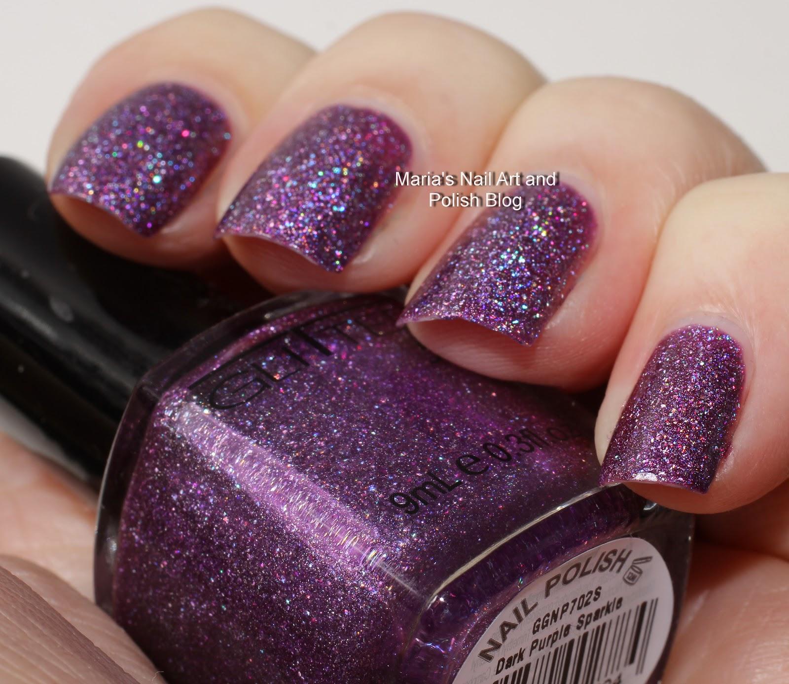 Marias Nail Art and Polish Blog: Glitter Gal Dark Purple Sparkle ...