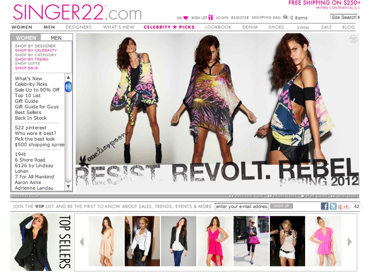 Top Designer Clothing Websites selling designer clothing