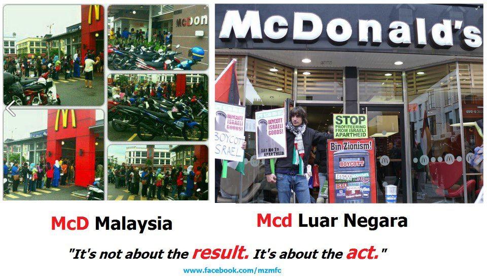 mcdonalds, restoren makan, boikot, boikot barangan, kempen