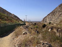 Looking south on Fish Canyon access trail in Vulcan Materials' Azusa Rock quarry