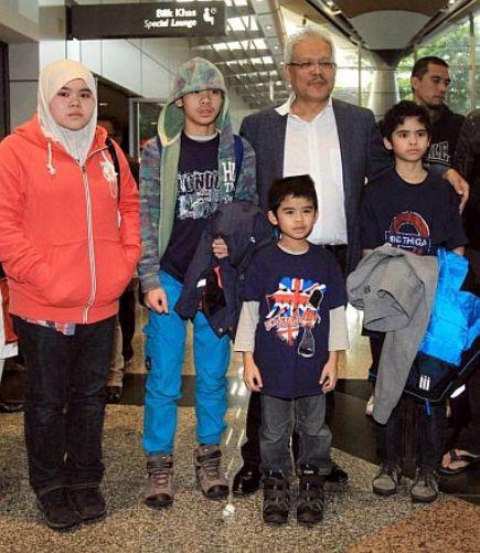 Aishah (14 tahun), Ammar (12), Adam (11) dan Arif (7)